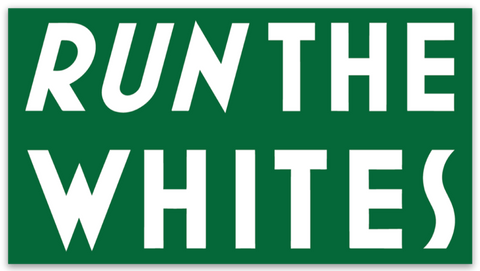 Run The Whites Stickers (Classic)