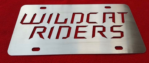 Wildcat Riders License Plate