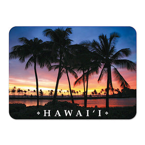 Die-Cut Tin Picture Sunset Magnet - The Hawaii Store