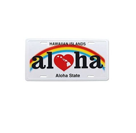 Aloha Heart of Hawaii License Plate - Polynesian Cultural Center