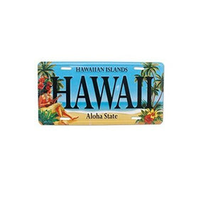 Vintage Hawaii License Plate - Polynesian Cultural Center