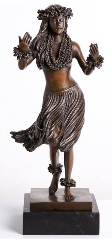 Aloha Bronze Statue - The Hawaii Store