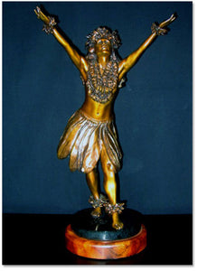 Kim Taylor Reece Limited Edition Hand-Cast Bronze Statue Ku'ulei - The Hawaii Store
