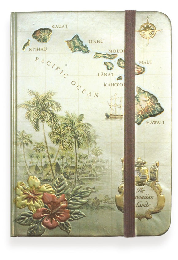 Foil Notebook with Elastic Band - The Hawaii Store