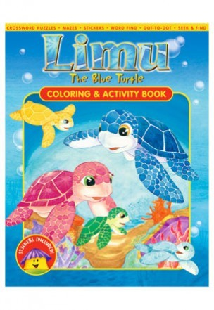 Limu The Blue Turtle: Coloring & Activity Book - The Hawaii Store