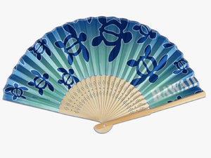 Honu Bamboo Fan - The Hawaii Store