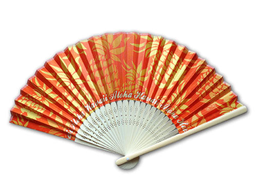 Pineapple Bamboo Fan