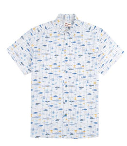 "Tori Richard Hawaiian Aloha  Shirt ""Mini Miro"" - Polynesian Cultural Center"
