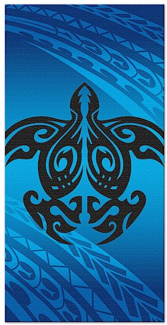 Tribal Honu (Turtle) Beach Towel