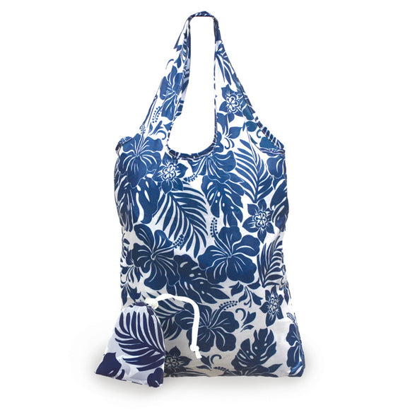 Foldable Tote Bag Hibiscus Floral - Polynesian Cultural Center