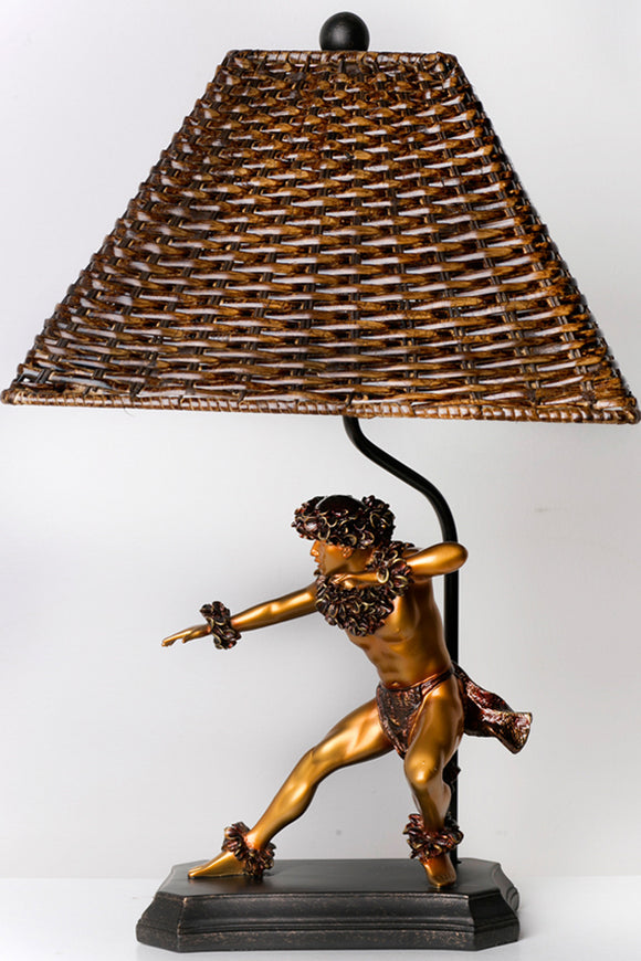 Rattan Lamp ''Kane Kahiko'' - The Hawaii Store