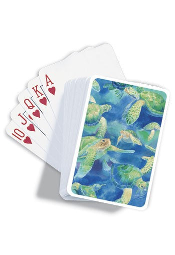 Swimming Honu (turtle) Playing Cards