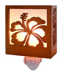 Hibiscus Wood Nightlight - The Hawaii Store