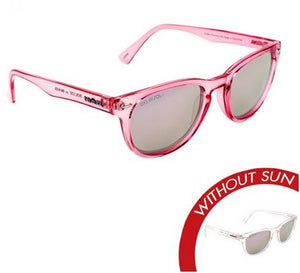 "Del Sol ""Endless Harmony"" Sunglasses Clear/Pink - The Hawaii Store"