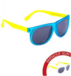 "Del Sol ""Boys of Summer"" Youth Sunglasses Frosted Clear/Yellow/Blue - The Hawaii Store"