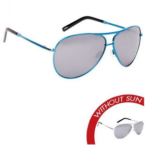 "Del Sol ""Paradise Found"" Sunglasses Silver/Blue - The Hawaii Store"