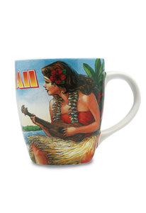Vintage Hawaii U-Shape Mug 11oz - Polynesian Cultural Center