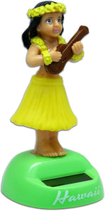 Solar Hula Dancer Dashboard Doll