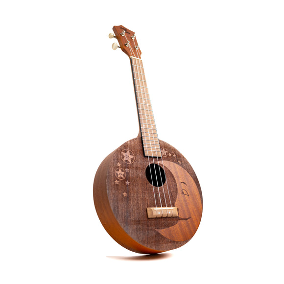 Eddy Finn Moon/Stars Ukulele - Mahogany - The Hawaii Store