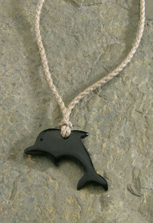 Twisted Cord Horn Dolphin Necklace - The Hawaii Store