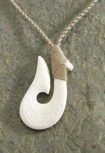 Bone Wrapped Hook Necklace - The Hawaii Store