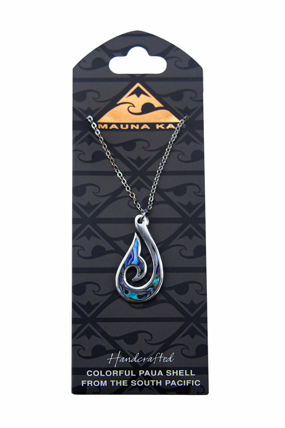 Pewter Paua Hook Necklace - The Hawaii Store