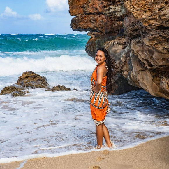 Sarong Tonga Orange - The Hawaii Store