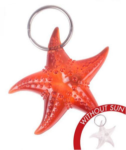 Del Sol Key Chain Starfish Orange - The Hawaii Store