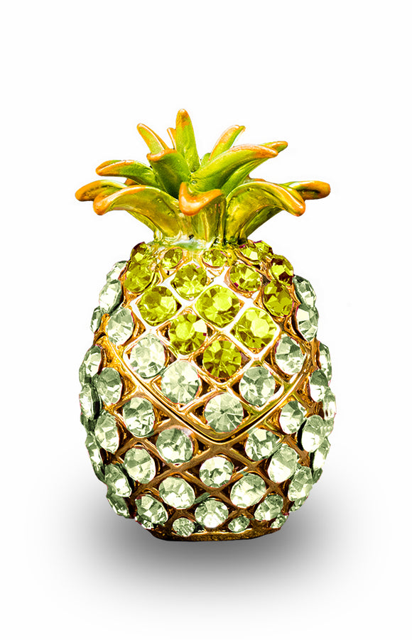 Swarovski Green Pineapple Box, Medium - The Hawaii Store