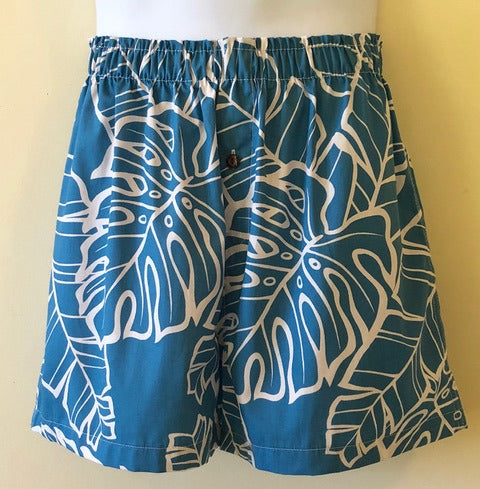 Bamboo Boxer Mai'a Blue Shorts - The Hawaii Store