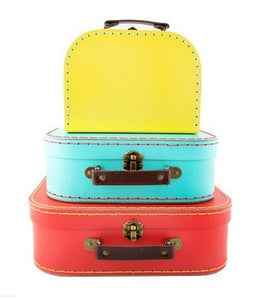 Retro Brights Suitcase - Set of 3 - The Hawaii Store