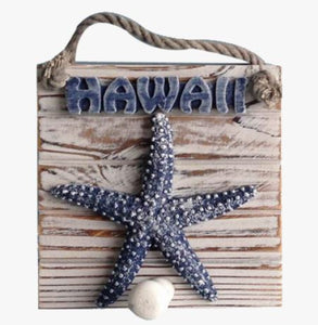 Blue Hawaii Starfish Sign - The Hawaii Store