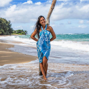 Sarong Turtle Blue - The Hawaii Store