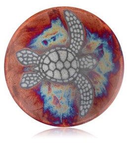 Marine Dream Raku Ceramic Plate 5'' - The Hawaii Store