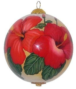 Radiant Hibiscus Ornament