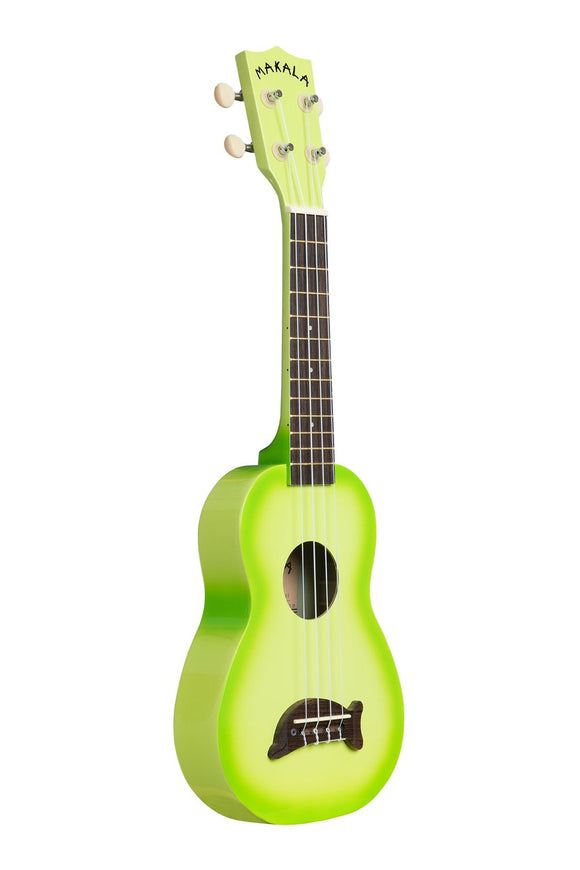 Makala Dolphin Soprano Ukulele -  Green Sunburst - The Hawaii Store