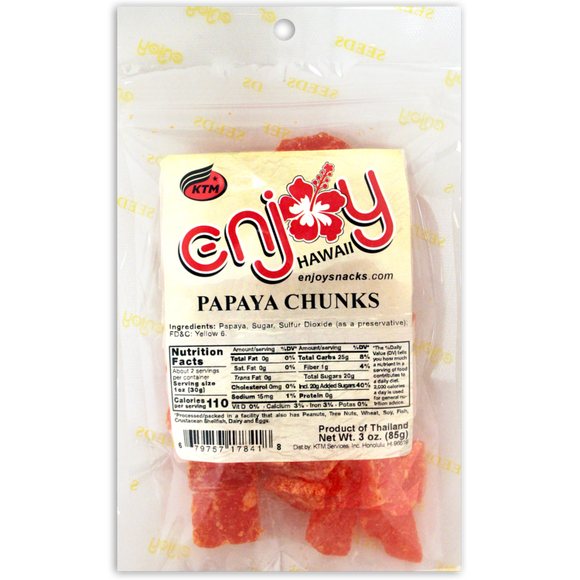 Enjoy Papaya Chips 3 oz - Polynesian Cultural Center