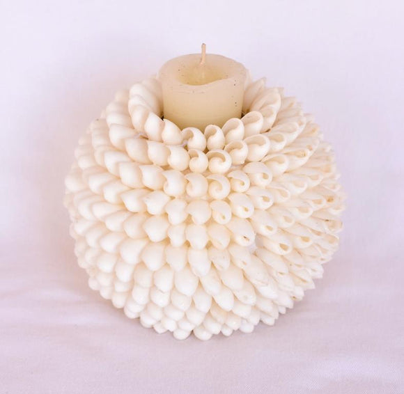 White Votive Shell Ball 6'' - The Hawaii Store