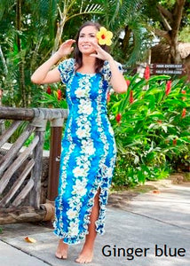 Hawaiian Naomi Ruffled Hem Dress