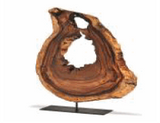 Acacia Wood Slice on Stand - Polynesian Cultural Center