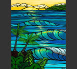 Matted Print ''Sunset Swell'' by Heather Brown 8x10 - Polynesian Cultural Center