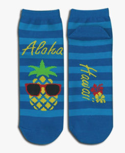 Pineapple w/Sunglasses Socks - The Hawaii Store