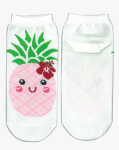 Pineapple Socks - white