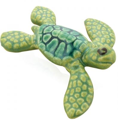 Mini Marine Green Turtle Ceramic 2'' - Polynesian Cultural Center
