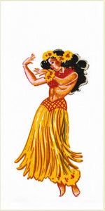 Towel Flour Hula 17''x24'' - The Hawaii Store