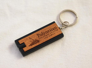 PCC Cherrywood Flashlight Keychain - The Hawaii Store