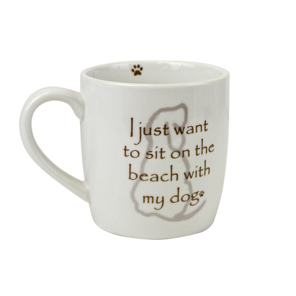 Ceramic Beach Dog Mug - Polynesian Cultural Center