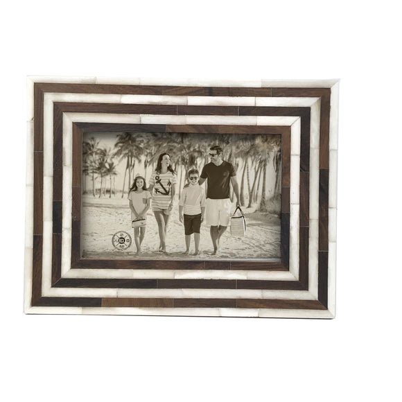 Ivory Resin/Wood Frame 4x6 - Polynesian Cultural Center
