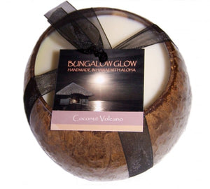 Coconut Volcano Coconut Shell Soy Candle - The Hawaii Store