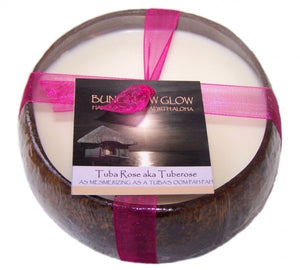 Tuberose Coconut Shell Soy Candle
